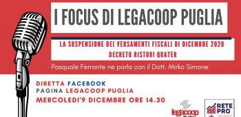 I Focus di Legacoop Puglia 09 12 2020